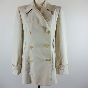 Ellen Tracy Light Khaki Rain Coat Lined